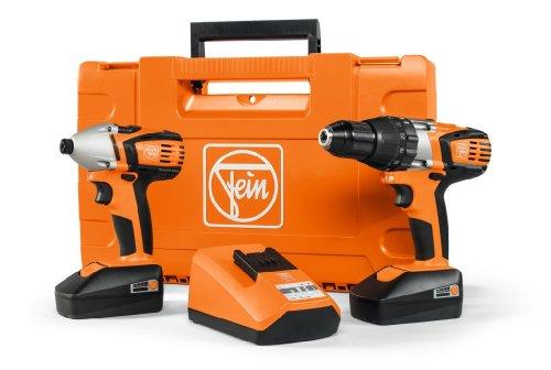 Fein Combo ASB18C-ASCD18W4C Cordless Combi Drill with Impact Driver, 18 V, Orange