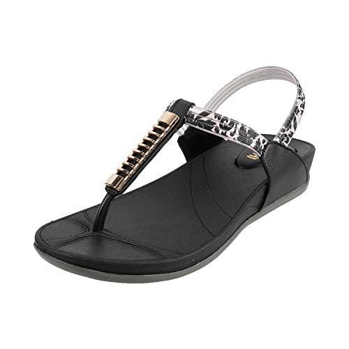 Mochi Women's Black Fashion Sandals-4 UK (37 EU) (33-509)