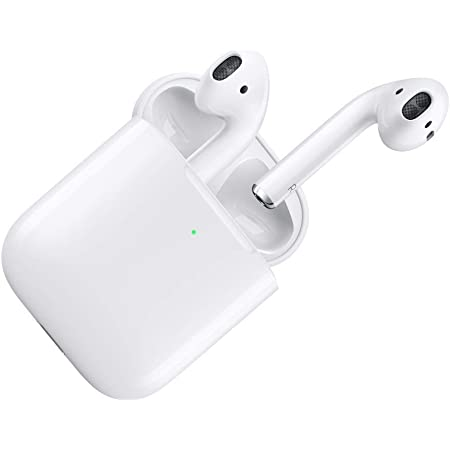 (Renewed) Apple AirPods with Wireless Charging Case - White