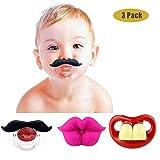 Lustige Baby-Schnurrbart-Schnuller, Maberry weiches Silikon Netter Schnuller-Entwurf mit Kusslippe …