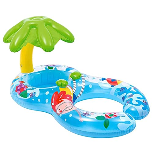 Anillo de natación Inflable, Anillo de natación Anillo de natación para niños Sombrilla Agua Asiento de bebé Fuente Termal para Padres e Hijos Bebé Madre e Hijo Flotador 0-1-3 años Madre e Hijo