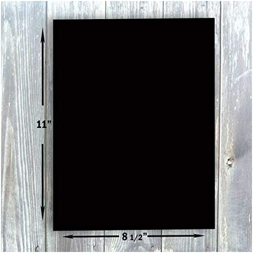 """Hamilco Black Colored Cardstock Thick Paper - 8 1/2 x 11"""" Heavy Weight 80 lb Cover Card Stock - for Scrapbook Craft Calligraphy or Chalkboard Papers for Printer - 50 Pack 
