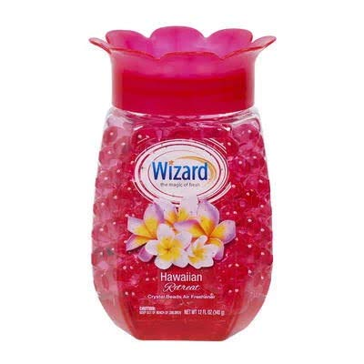 Wizard Hawaiian Retreat Scented Crystal Beads Air Freshener & Odor Eliminator   Home Fragrance - 12 Ounce (Pack of 2)