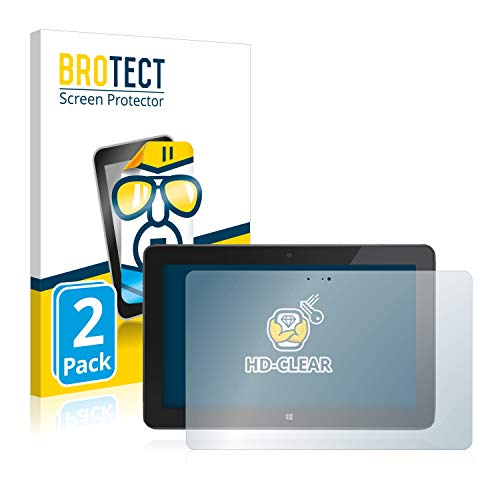 BROTECT Schutzfolie kompatibel mit Dell Venue 11 Pro 7130 (2013-2014) (2 Stück) klare Bildschirmschutz-Folie