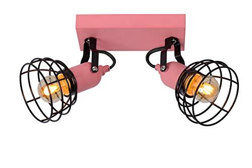 Lucide Paulien – Foco de techo – 2 x E27 – Rosa