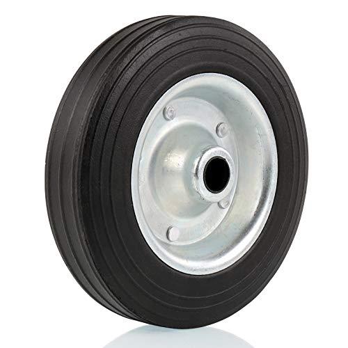 deiwo Ersatzrad für Stützrad Metall-Felge mit Vollgummi-Reifen 200x50mm