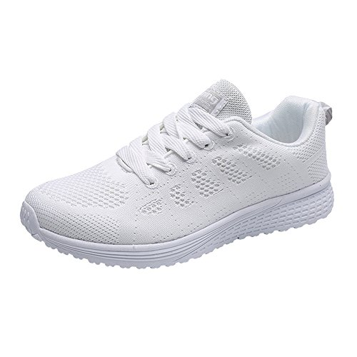 ELECTRI Femme Maille Bretelles Rondes Grille Chaussures de Course Running Sport Trail Coussin d'air Sneakers Outdoor Fitness Gym Shoes Baskets Plates