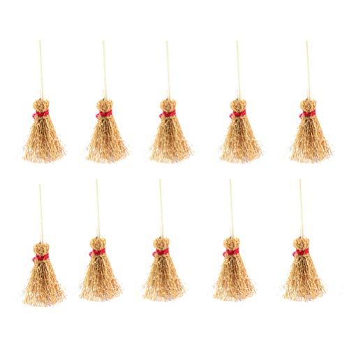 Artibetter 10pcs Mini natürliche Handwerk Besen für Hochzeitsbevorzugungen oder zum Basteln L