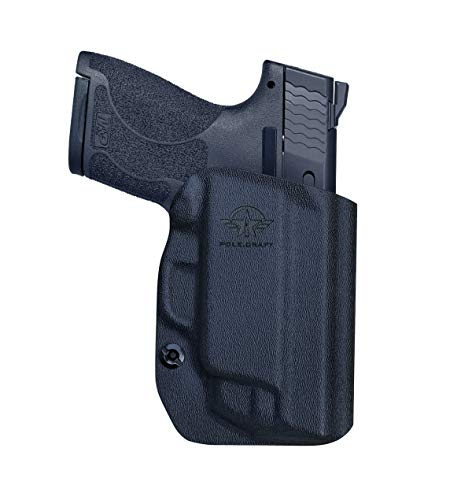MP Shield 9mm Holster OWB Kydex for Smith Wesson MP Shield 9mm 40 M20 with Integrated Laser Pistol Case MP Shield Holster OWB with Laser Outside Waistband Carry 15 2 Inch Belt Clip