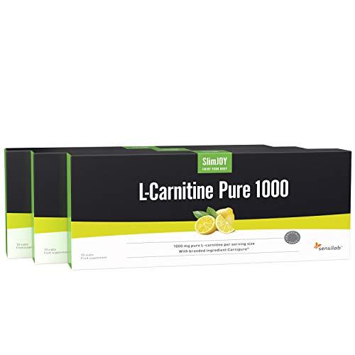 L-Carnitine Pure 1000 Shots - 3x10 Ampullen für 30 Tage mit Carnipure® - Hochdosiert