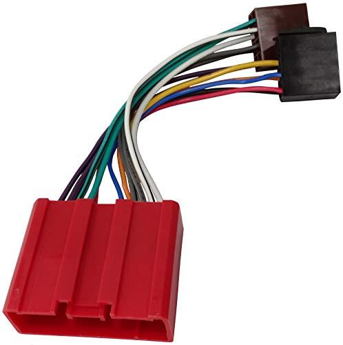 AERZETIX - B9 Cavo Adattatore convertitore Radio ISO Cavo Adattatore Radio Jack ISO-Conforme Cavo per Mazda
