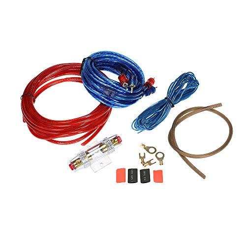 Kit de Instalação do Amplificador de Subwoofer de Áudio do carro 1500 W AMP RCA Kit de Fiação Cabo Cabo de Fio Titular Fusível