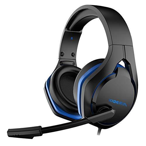 MIAO. Auriculares de Juegos con micrófono y luz LED, Compatible con PS4, Xbox One, Nintendo Switch, PC, PS3, Mac, computadora portátil