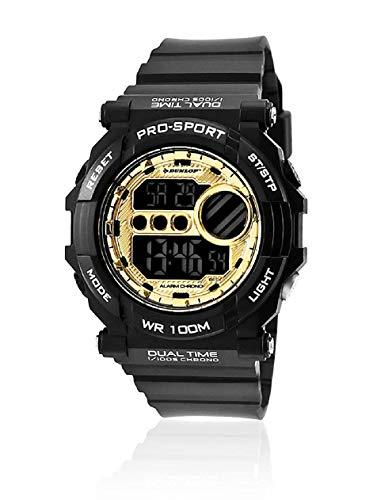 Dunlop Reloj Digital para Unisex Adultos de Cuarzo con Correa en Caucho DUN234G02