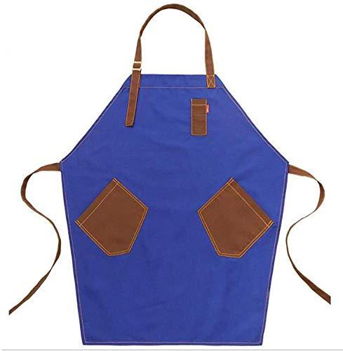DHRH Arbeitsschürze Hochleistungs-Segeltuch-Mehrzweckschürze wasserdichte, ölbeständige Werkzeugschürze mit 3 Taschen zum Bemalen von Gartenheimen, Khaki