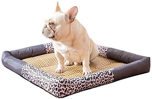 YLCJ Ademend verkoelend hondenbed, Oxford stof huisdierbed Waterdichte dierenbank Duurzaam koelkussen Kennel kussen Comfortabel hondenbed Kennel bed (Kleur: B, Afmetingen: L (61x51x7cm)), XL(76x61x7cm), B