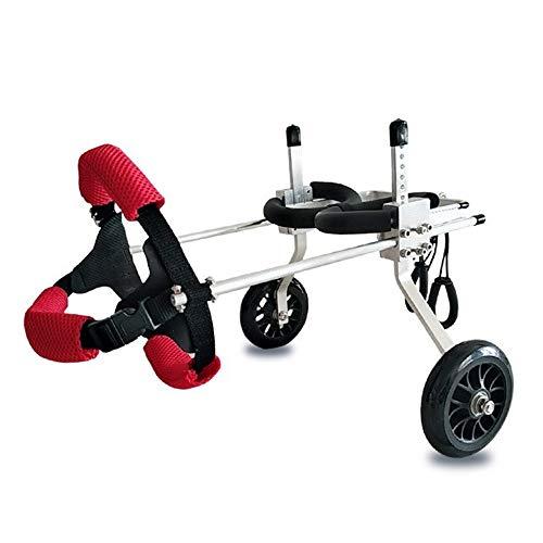 ZXPAG Ouderen huisdier hond rolstoel quadriplegic hond forelimb auto voorpoten verlamde honden helpen gehandicapte auto -, S