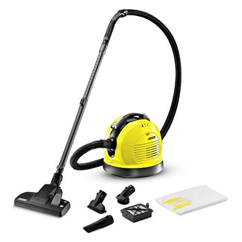 Kärcher VC 6 Staubsauger (inkl. Zubehör, energieeffizienter Boden-Staubsauger mit wechselbaren Düsen, Reinigungsgerät für Teppich, Ecken und Polster)