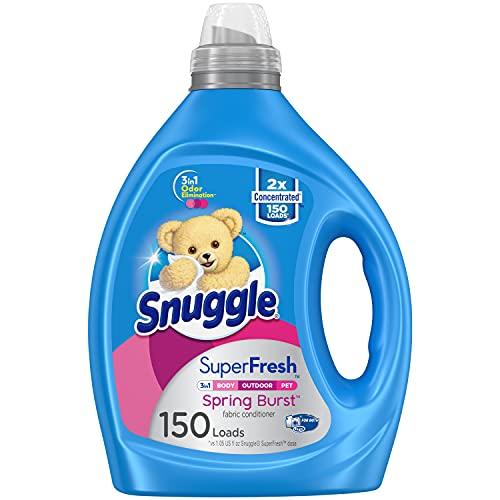 Snuggle Liquid Fabric Softener, SuperFresh Spring Burst, Eliminates Tough Odors, 150 Loads (Packaging May Vary)