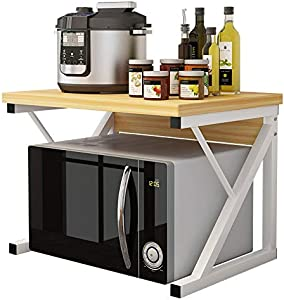 Microwave Shelf Stand Microwave Oven Rack Kitchen Storage Organiser Countertop Space Saver for Kitchen Bathroom (Color : A)