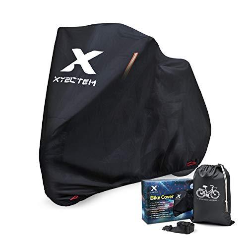 XYZCTEM Fahrradabdeckung, Wasserdicht Dicke 210D Oxford Extra Strapazierfähig, All Season Outdoor Schutz für Fahrräder mit Einer maximalen Länge von 200cm
