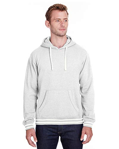 J. America 8649 Relay Sweat à capuche en polaire - Gris - Medium