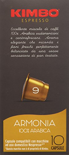 Kimbo Capsule Armonia Compatibili Nespresso - 12 Astucci da 10 Capsule (Totale 120 Capsule)