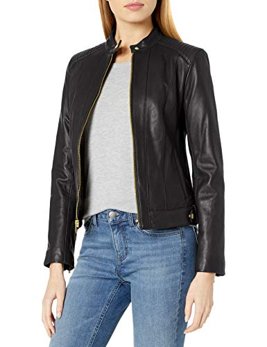 Cole Haan Women's Leather Racer Jacket