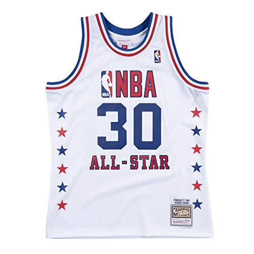 Mitchell & Ness NBA Patrick Ewing All Star East 1988 Hardwood Classic, color blanco, multicolor, small