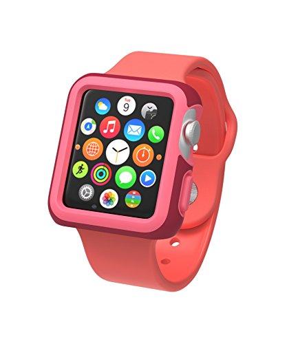 Speck CandyShell Fit Custodia Protettiva per Orologio Apple Watch di 38mm - Rosso/Rosa