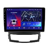 ADMLZQQ Android 10 Multimedia para automóvil, Navegación GPS para SsangYong Korando 3 Actyon 2 2010-2013 Bluetooth Espejo Enlace 4G Control del Volante,8core 4g+WiFi: 4+64g