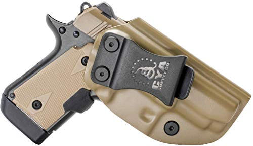 CYA Supply Co. Fits Kimber Micro 9 Inside Waistband Holster Concealed Carry IWB Veteran Owned Company (Flat Dark Earth, 027- Kimber Micro 9)