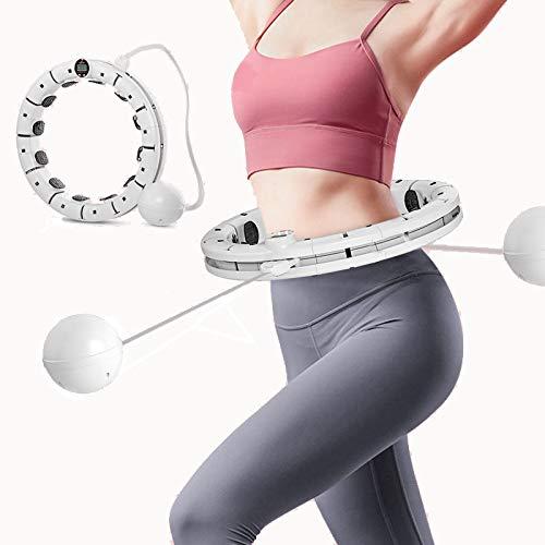 Kaltes Wasser Smart Hula Hoop Reifen Erwachsene Waist Trainer auf Taille Powerhoop, mit Massagefunktion und Zähler, für Anfänger Fitness Abnehmen, Maximaler Taillenumfang 120cm