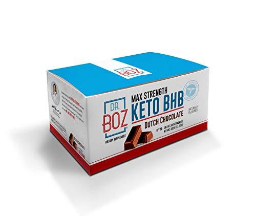 Dr. Boz Max Strength Keto BHB Powder [20 Sachets,16.6g] -Best Keto Supplement for Weight Loss - Keto Supplement | Keto Shake – Keto Diet BHB Powder - [Dutch Chocolate]