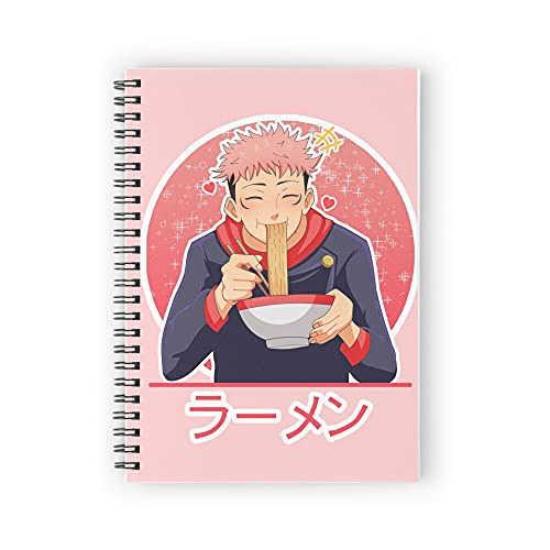 [Jujutsu Kaisen] Yuji Itadori - Ramen Time (Version 2) Spiral Notebooks 160 Pages, Pages with Premium Thick Paper, Strong Twin-Wire Binding for College Students and Office
