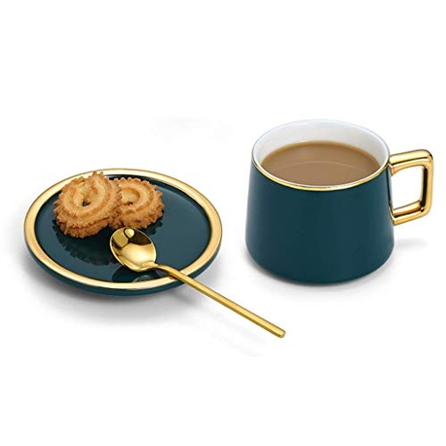 YFGQBCP Copa de Europa de Espresso Inglés de la Tarde Taza de té de Alta Gama Conjuntos Inicio Elegante Taza de té té de Flor de Juego de vajilla