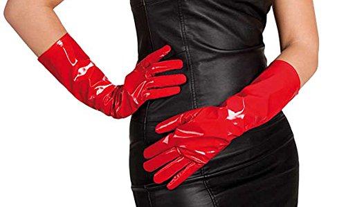 Boland 03021–Handschuhe aus Vinyl, Rot