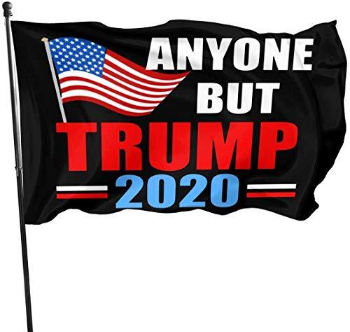 ShiHaiYunBai Flagge/Fahne, Anyone But Trump 2020 Outdoor Flag Home Garden Flag Banner Breeze Flag USA Flag Decorative Flag 3x5 Ft Flag