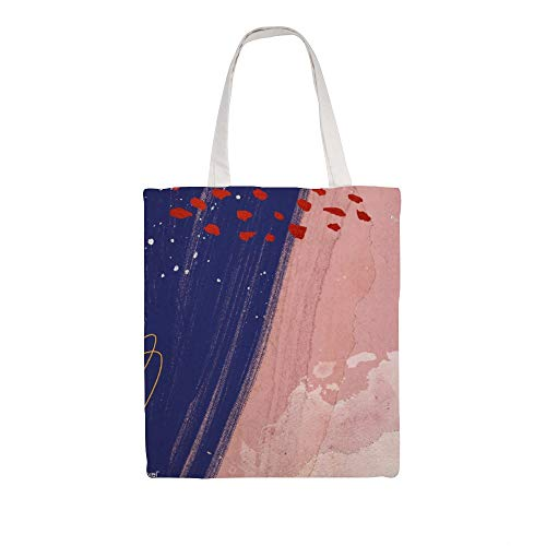 Cloth Shoulder Grocery Shopping Bags, Pink Neo Memphis Illustration Natural Canvas Tote Bag, Reusable Shopping Bag