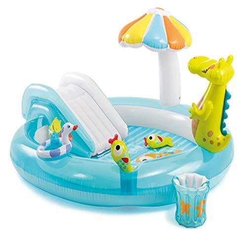 Für alles dankbar Spielen Sie Pool Aufblasbare Pad Pool Krokodil Brunnen Baby Aufblasbare Pool Kinder Pool Aufblasbare Bad Rutsche Brunnen