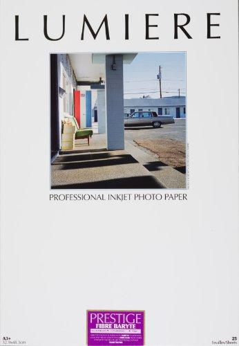 LUMIERE Papier Prestige 310gr Fibre Baryté satiné A3+ - 32,9 x 48,3 cm - 25 feuilles