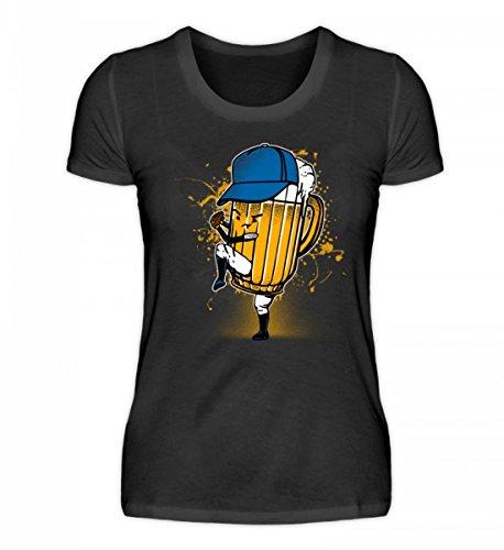 EBENBLATT Hochwertiges Damenshirt - Baseball Baseballer Pitcher Bier zweideutig Baseballspieler Geschenk