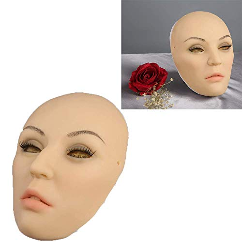 TWO Sexy Silikon Maske Female Masken Pretty, Halloween Christmas Masken, Angel Face, Cosplay Male to Female for Crossdresser Transgender Shemale, Using Safe Medical Grade Silicone Rubber Half Face