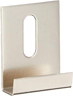 "Hillman 54117 Wide Channel Metal Mirror Clips (1/4"" x 1"" x 1-1/2"") - 15 Pieces"