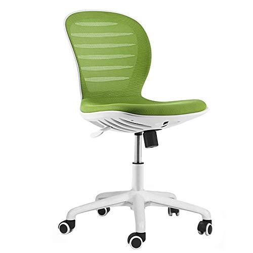 Needshome - Silla de ordenador de malla transpirable, silla de escritorio para el hogar, oficina de largo tiempo, plástico -40602D4K2U (color: verde)
