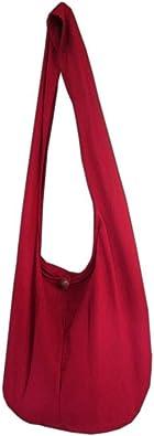 PANASIAM Schulterbeutel für Damen & Herren I große Baumwoll-Tasche in 2 Größen - angenehm leicht & erfreulich robust I mit Reißverschluss & extra Innentasche I Umhängetasche