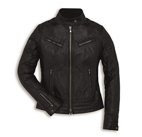 Ducati Vintage Damen Lederjacke schwarz Größe S