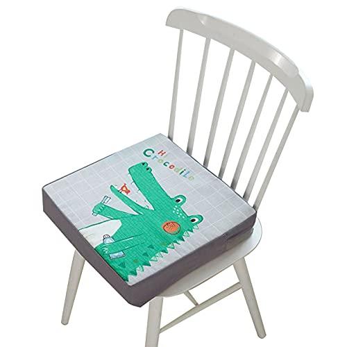 ZIGJOY Sofakissen Outdoor Meditationskissen Essensstuhl Sitzkissen Kinder Verwenden Sie Kissen für Sitzerhöhungen Kissen Stuhl Kinder Sitzkissen Sitzerhöhung Stuhl Zerlegbare Einstellbare(Krokodil)