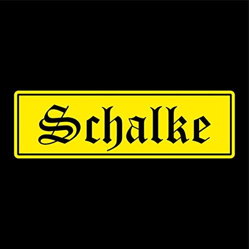 Shirtblaster Schalke Städte Auto Aufkleber Sticker 5cm x 17cm