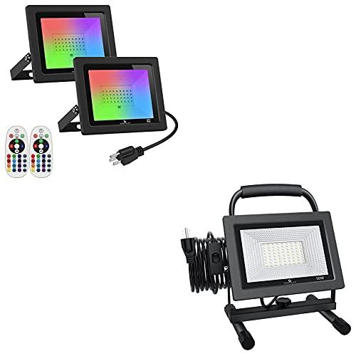 GLORIOUS-LITE 30W RGB LED Flood Lights & 50W LED Work Light